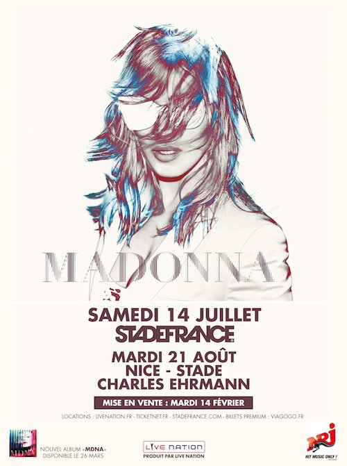 affiche officielle madonna world tour 2012