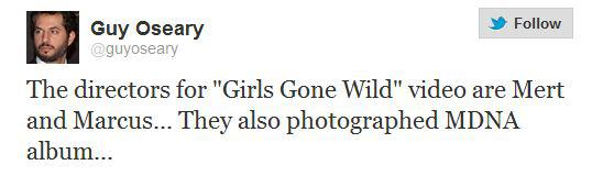 girls gone wild video tweet Le Clip de Girls Gone Wild, Madonna World Tour...Actualisé
