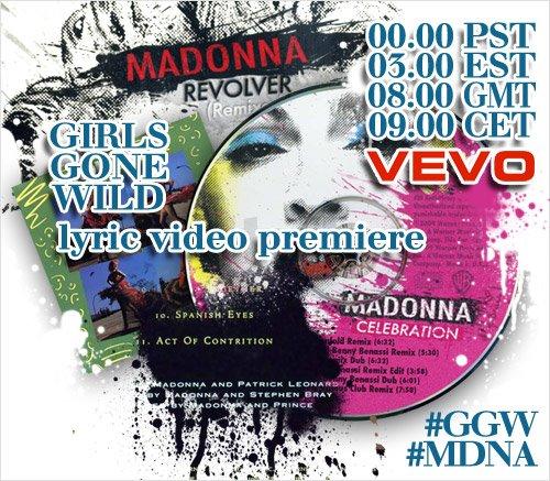 madonna sur vevo OFFICIEL: Girls Gone Wild, La Grande Première...(Rectificatif)