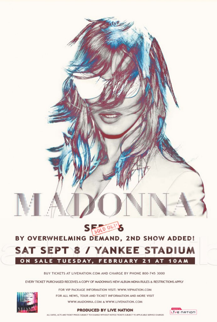 madonna world tour ny yankee stadiuem