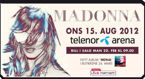 oslo madonna world tour