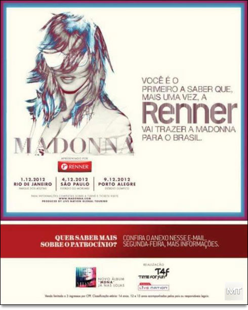 ad brazil 501 News : Interview & Mdna Tour !