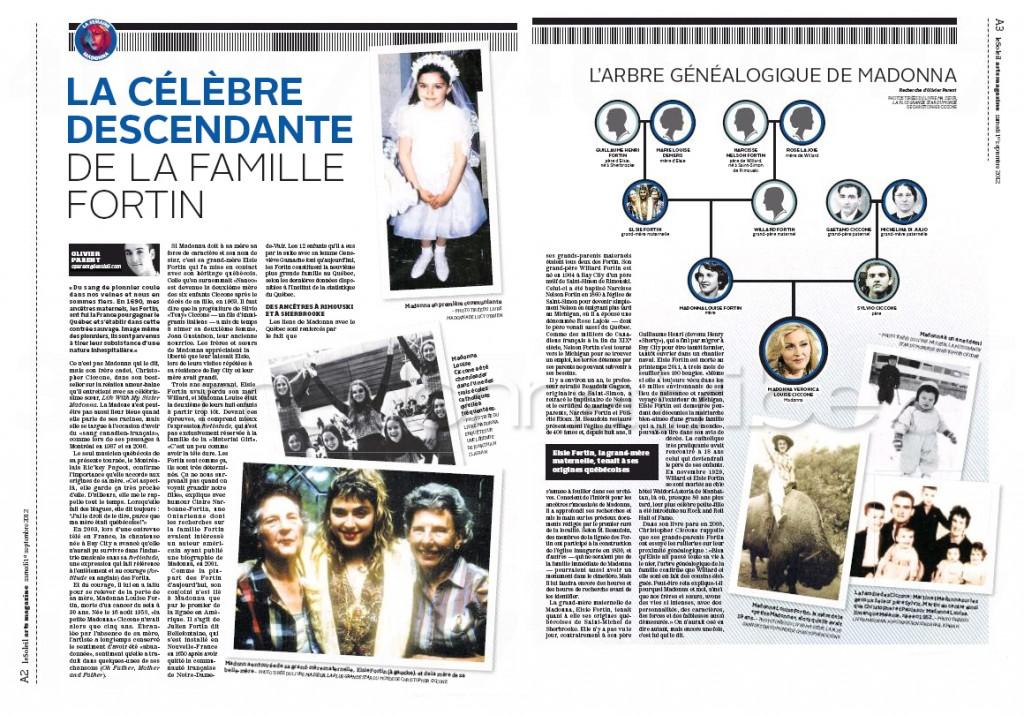 Madonna Presse - Le Soleil supplément Arts Magazine (Canada 2012.09.01) page 1