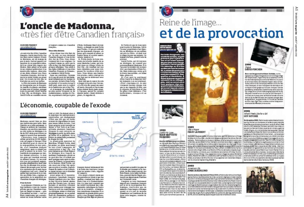 Madonna Presse - Le Soleil supplément Arts Magazine (Canada 2012.09.01) page 2