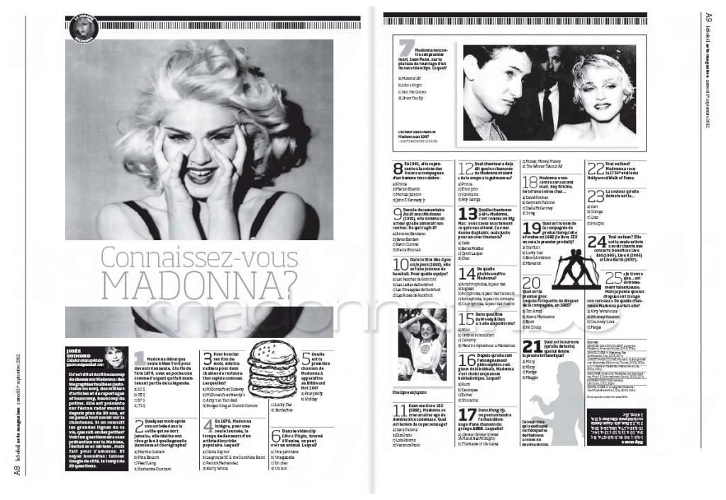Madonna Presse - Le Soleil supplément Arts Magazine (Canada 2012.09.01) page 4
