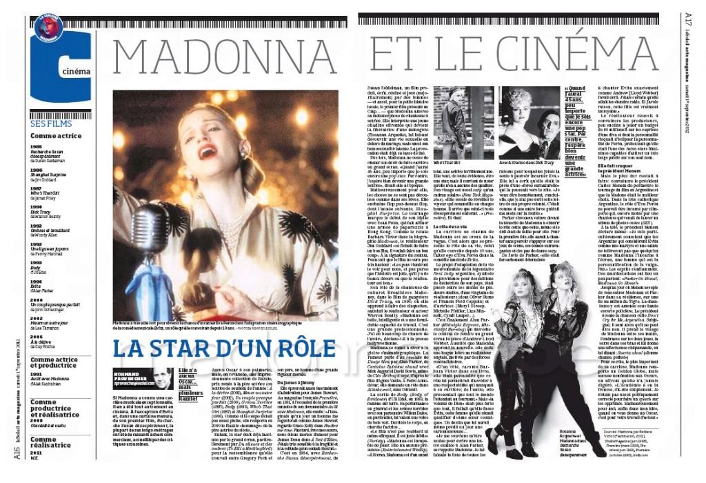 Madonna Presse - Le Soleil supplément Arts Magazine (Canada 2012.09.01) page 7