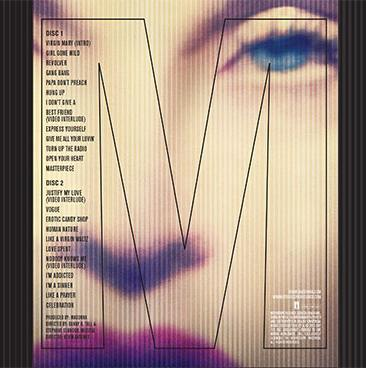 MADONNA MDNA WORLD TOUR 2CD BACK