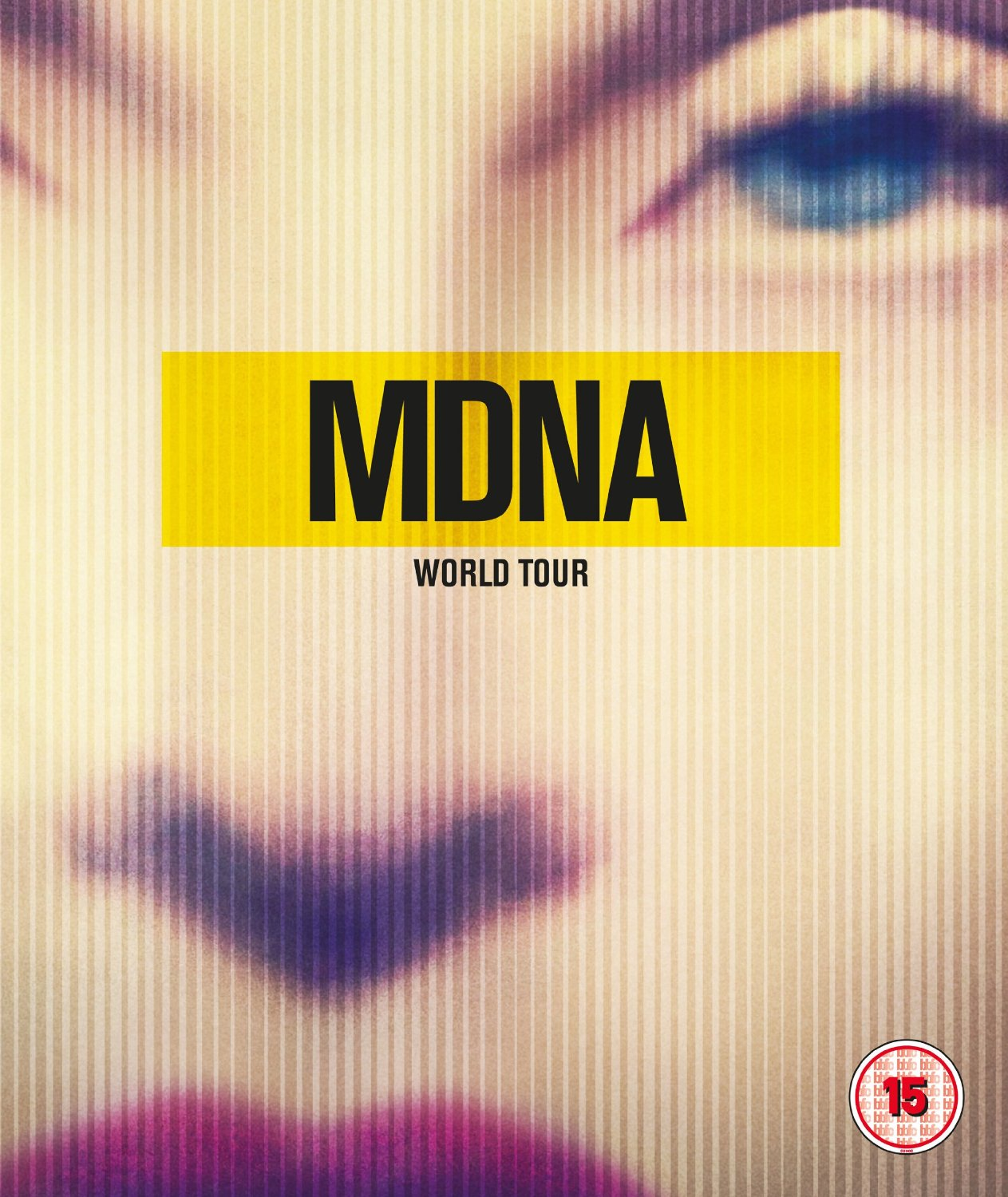 MADONNA MDNA WORLD TOUR BLURAY DVD FRONT