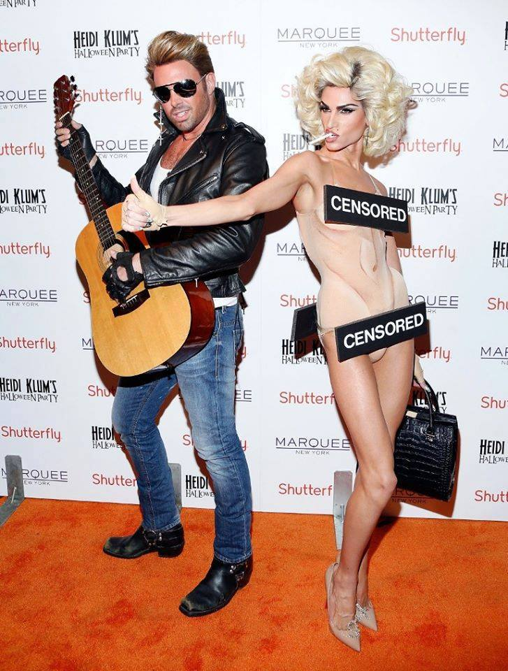 heidi klum's halloween party madonna et george michael