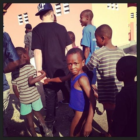 madonna instagram haiti Rocco swaggin it with his homey's in Cite Soleil