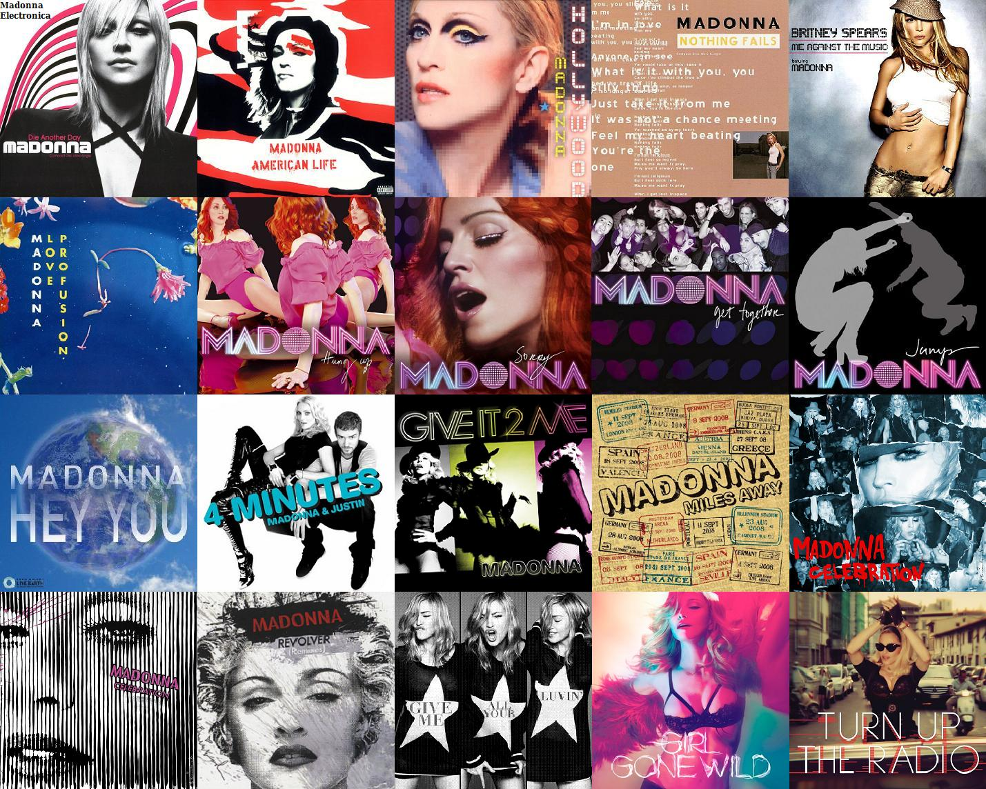 madonna singles covers 2003-2012 (Madonna Electronica)