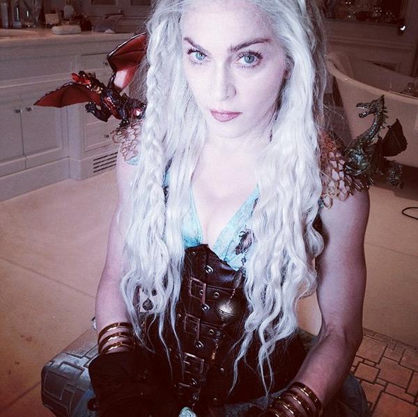 Madonna en Daenerys Targaryen Madonna en Daenerys Targaryen de Game of Thrones, vous aimez ?